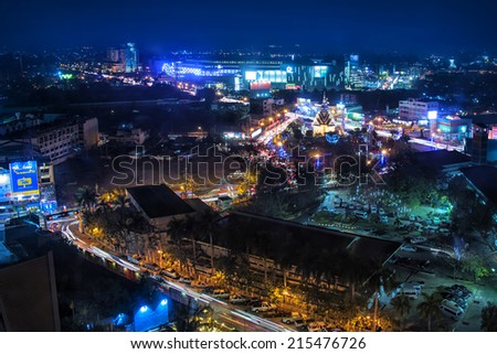 Night view of the city - stock photo