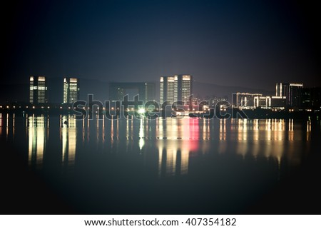 night waterfront view