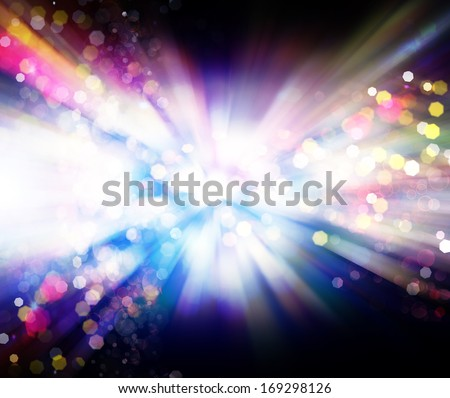 NightClub.Holiday.Party. Blue Abstract Backdrop with Lights - stock photo