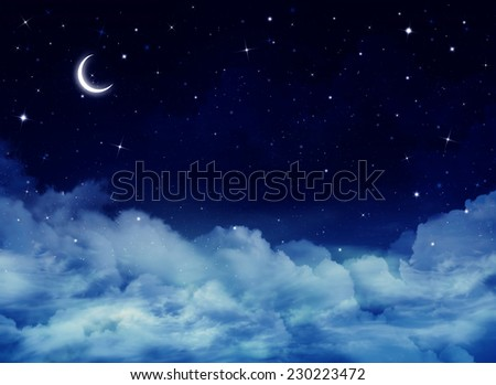 nightly sky - stock photo