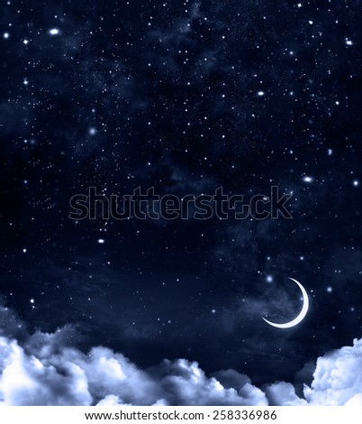 nightly sky, abstract beautiful background - stock photo