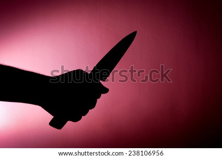 nightmare in the dark! - stock photo