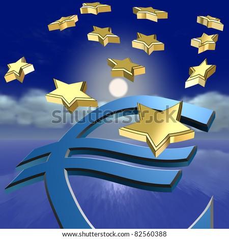 Nightmare of the Euro crisis - stock photo