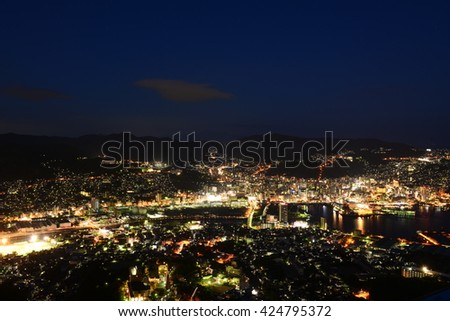 Nightscape of Nagasaki, Japan