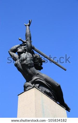Nike Statue Warsaw Poland Nike Greek Stock Photo Image Royalty