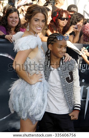 """Nikki Reed and Jaden Smith at """"The Twilight Saga: Eclipse"""" Los Angeles Premiere held at the Nokia Live Theater in Los Angeles, California, United States on June 24, 2010.   - stock photo"""