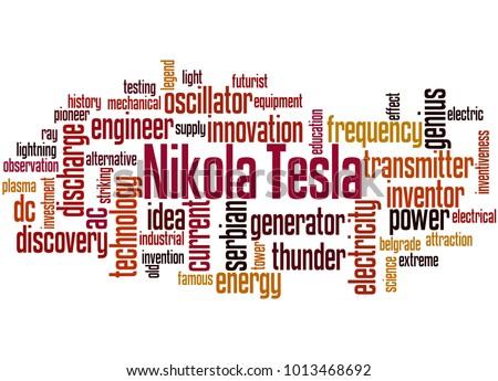 Nikola Tesla Word Cloud Concept On Stock Illustration 1013468692