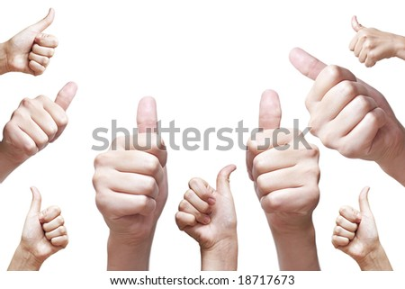 nine hand thumbs up