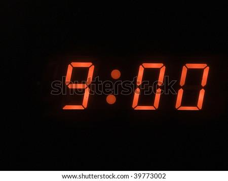 nine o clock am - stock photo
