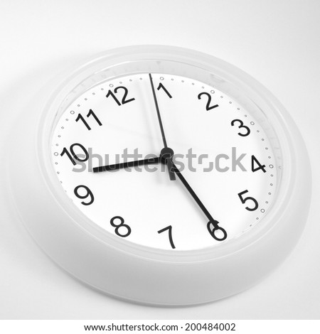 nine thitry - stock photo
