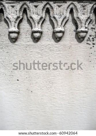 Nineteenth century gravestone detail white space - stock photo
