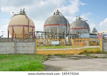 Nitrogen chemical plant in Wloclawek, Poland - stock photo