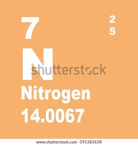 Nitrogen periodic table elements stock illustration 595383638 nitrogen periodic table of elements urtaz Choice Image