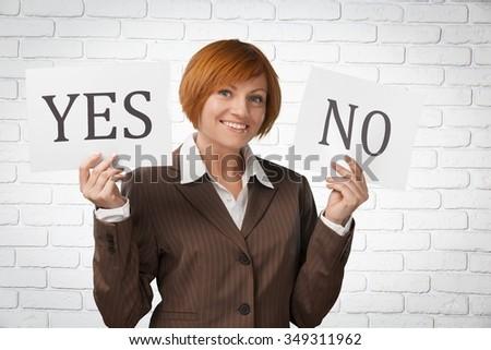No. - stock photo