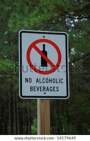 no alcohol beverages street sign