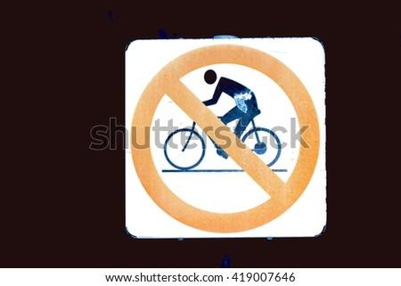 No bike sign - stock photo