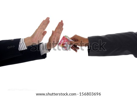 No Corruption Or Fee  - stock photo