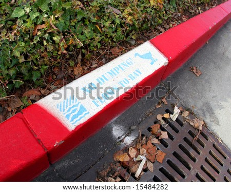 No Dumping message - stock photo