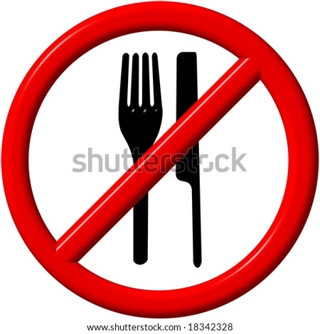 no eating, no food allowed - stock photo