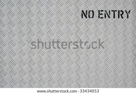 No entry sign with copy space - stock photo