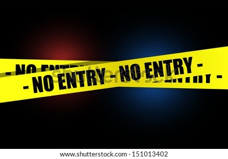 no entry yellow, warning tape illustration design over a dark background