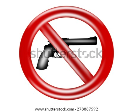 No gun sign. - stock photo