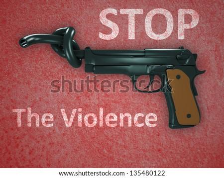 No gun violence symbol - stock photo