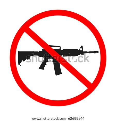 no guns allowed, abstract art illustration; for vector format please visit my gallery - stock photo