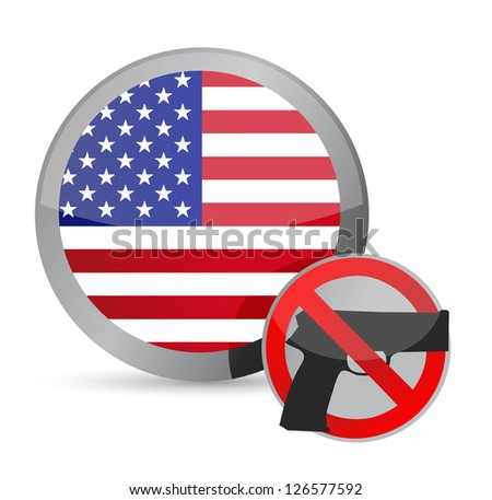no guns allowed us illustration design over white - stock photo