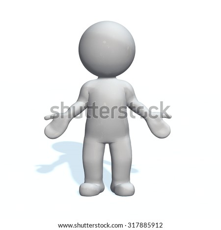 no idea - 3D People isolated   - stock photo