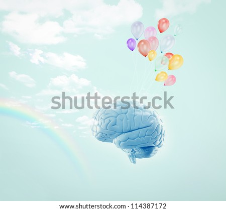 No limits - Human brain - stock photo