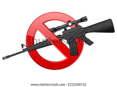 no M16 illustration. - stock photo