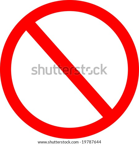 No/Not Allowed Sign - stock photo