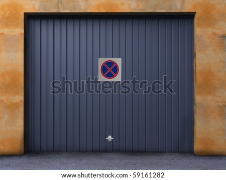 no parking in front of garage !!! - stock photo