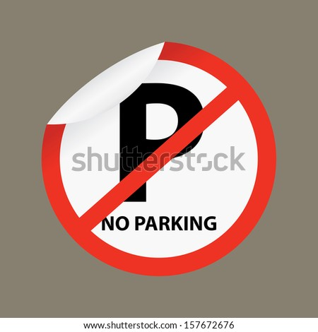 No parking sign on gray background - jpg format. - stock photo