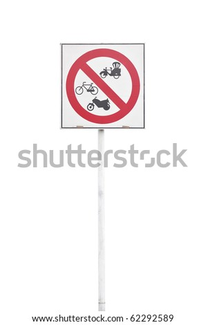 no passing sign for bicycle motorcycle and moter-tricycle