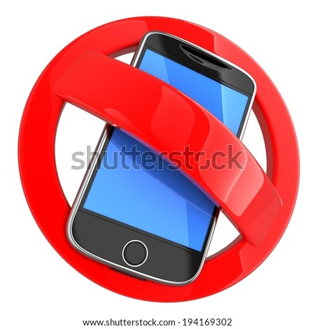 No phone on white background (done in 3d) - stock photo