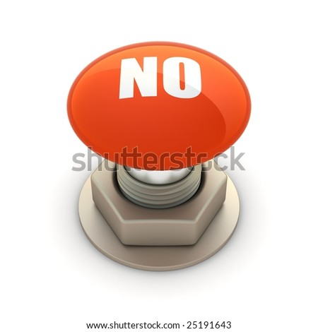 No. Red button - stock photo
