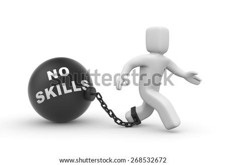 No skills - stock photo