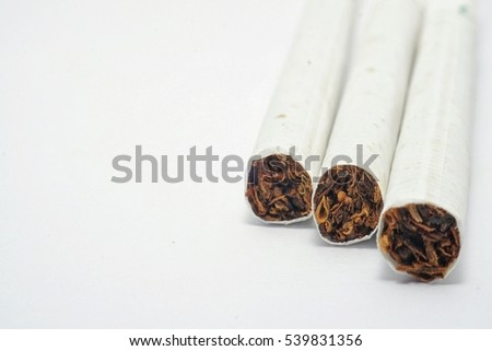 No smoking cigarettes isolate with white.