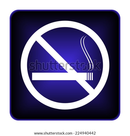 No smoking icon. Internet button on white background.
