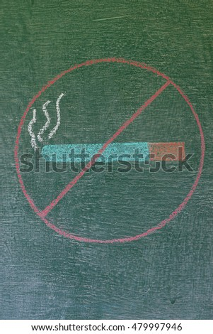 no smoking on chalk board