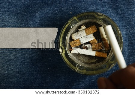 No smoking on jeans background