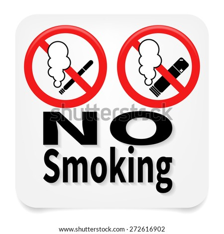 no smoking sign including electronic cigarettes - stock photo