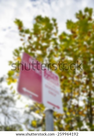 No stop in Bus zone sign in Blur style - stock photo