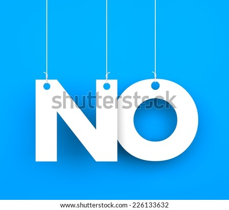 No. Text on the string - stock photo