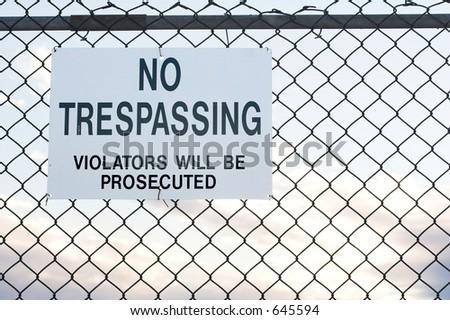 No Trespassing - stock photo