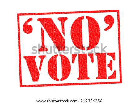 NO VOTE red Rubber Stamp over a white background.