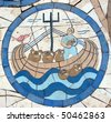 Noah's Ark, Mosaic in front of the church on the Mount of Beatitudes - stock photo
