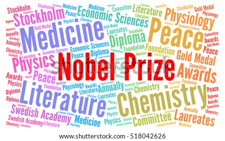 Nobel prize word cloud